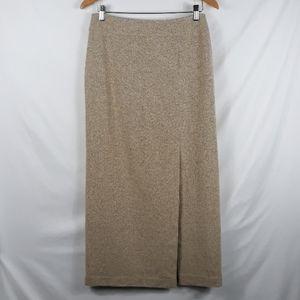 Ann Taylor silk blend tweed slit pencil skirt 6